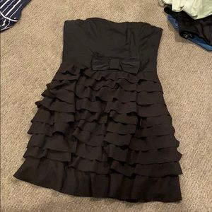 frilly black dress